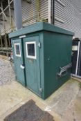 Morgan CD Dosing Cubicle, approx. 1.85m x 1.85m x 2.12m high, with residual equipment inside (