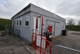 Three Section Office Building, approx. 8.2m x 8.8m (reserve removal), with residual office furniture