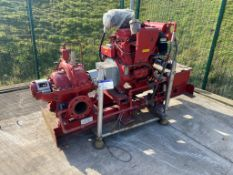Strong Pumps Ltd HGTI-150 Centrifugal Pump, serial no. S523242B, with fitted Clarke Detroit DDFP-