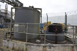 EFFLUENT NEUTRALISATION TANKS & EQUIPMENT, on concrete plinth (There will be a removal/ loading