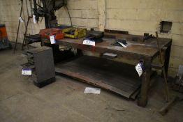 Steel Welding Bench, approx. 2.5m x 1.25m