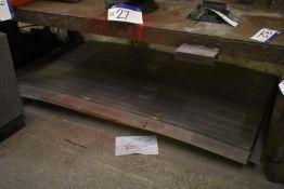 Work-in-Progress Sheet, under bench