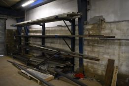Steel Contents of Cantilever Stock Rack, including