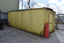 Steel Office Cargo Container, approx. 7.2m long, w