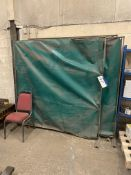 Four Welding Screens, approx. 1.8m wide