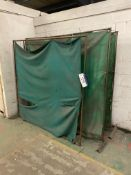 Four Welding Screens, approx. 1.9m wide