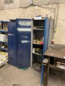 Two Steel Cabinets, including welding consumables