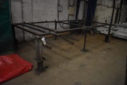 Steel Framed Welding Jig, approx. 4.4m x 2.4m