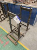 Two Steel Roller Stands, approx. 300mm wide on rol