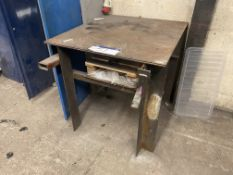 Steel Workbench, approx. 1.05m x 950mm x 1m high