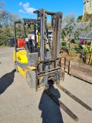 Samuk H15L Gas Forklift Truck, Year of Build 2008, Lift Height 3300mm, Lifting Capacity 1350kg,