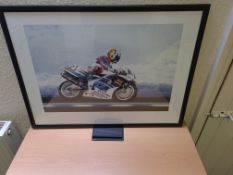 Framed Limited Edition Print of James Whitham on Works Suzuki - World Superbikes 1997 (7809/850)
