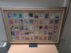 """Framed Collection of 50 Boxing Fight Flyers for Cassius Clay / Ali, 30"""" x 36"""""""