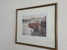 """Signed Titled Framed Limited Edition Print ' Low Tide' (9/750), by M Cowton, 20"""" x 18"""""""