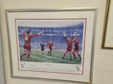 Framed Limited Edition Print ' Journeys End' 1965 FA Cup Final (233/600)