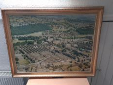 Framed Aeiral Photo of Saltaire Village, 115cm x 90cm