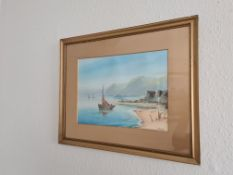 Signed Framed Watercolour Sailing Boat Scene by J chester, 55cm x 45cm