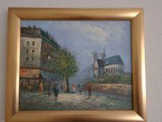 Signed Framed Oil on Canvas of Parisien Street Scene / Notre Dame by Emile Bernard (1868 - 1941),
