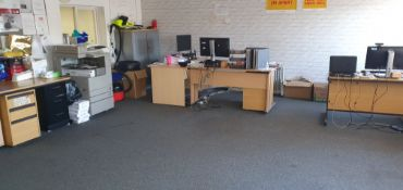 Contents of Office, including six desks, seven off
