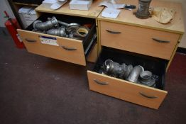Assorted Discharge Couplings, in two drawers (located in Warehouse Office) (Offered for sale on