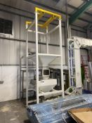 * BULK BAG DISCHARGE STAND, approx. 1.36m x 1.36m x 4.2m high overall, with fork lift bag lifting