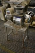 Buhler Geared Motor Driven Rotary Air Seal, with fitted intake tube, approx. 145mm dia., and