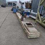 Twin Chain Conveyor, with 400mm working width, the conveyor is 6.35m long and it has a 0.75kW