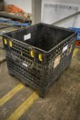 Plastic Crate, approx. 1.2m x 1m x 800mm deep (Offered for sale on behalf of Jas Bowmans & Sons Ltd,