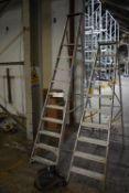 Ten Rise Folding Alloy Platform Stepladder, max. permissible load 150kg (Offered for sale on