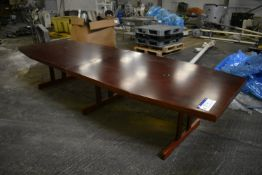 Boardroom Table, approx. 3.66m x 1.25m wide (Offered for sale on behalf of Jas Bowmans & Sons Ltd,