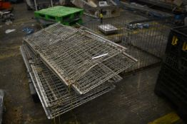 Approx. Four Foldable Wire Mesh Pallet Cages, each approx. 1.2m x 1m (Offered for sale on behalf