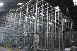 Dexion P90 M SIX BAY THREE TIER DRIVE-IN PALLET RACK, approx. 10m x 10.8m x 6m high overall, for