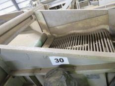 Destoning Roller Conveyor, approx. 1.2m x 1.3m x 3