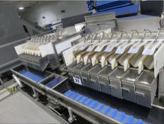 Two x Eight Head Newtec Weighers, with split conve