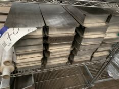 26 Stainless Steel Lidded Boxes, with perforated b