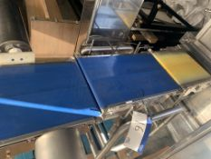 Yamato CMG06LW Checkweigher, with push arm reject,