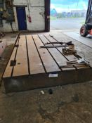 Slotted Steel Machine Bed, approx. 4.3m x 2.2m (un