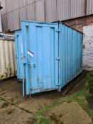 Flammables Stores Container, approx. 3.15m x 2.5m