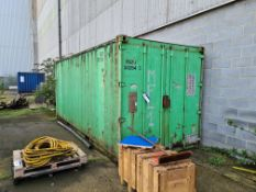 20ft Steel Shipping Container (contents excluded)