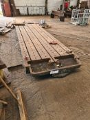Slotted Steel Machine Bed, approx. 5.6m x 1.5m (un