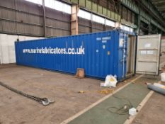 40ft Steel Shipping Container (contents excluded)