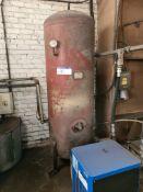 S Bartlett Vertical Welded Steel Air Receiver, ser