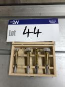 Set of Four Router Bits, in case