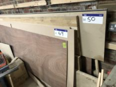 Four Various Lengths of Worktop, 550mm and 600mm wide