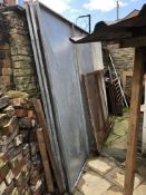 Galvanised Steel Paint Spray Booth, 3m x 3m (dismantled)