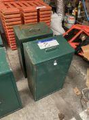 Two Dog Waste Bins, with galvanised inner bins, ea