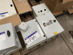 Three Plastic Control/ Interlock Cabinets