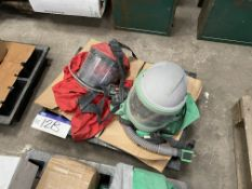Two Shot Blasting Helmets, as set out on pallet