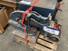 150mm jaw Hand Operated Shear. Please read the following important notes:- Assistance will be