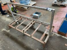 Steel Trolley, approx. 1.54m long. Please read the following important notes:- Assistance will be